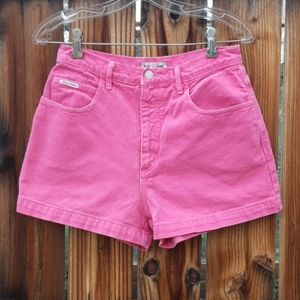Guess vintage jean mom shorts pink high rise sz 28